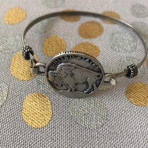 Buffalo nickel bracelet